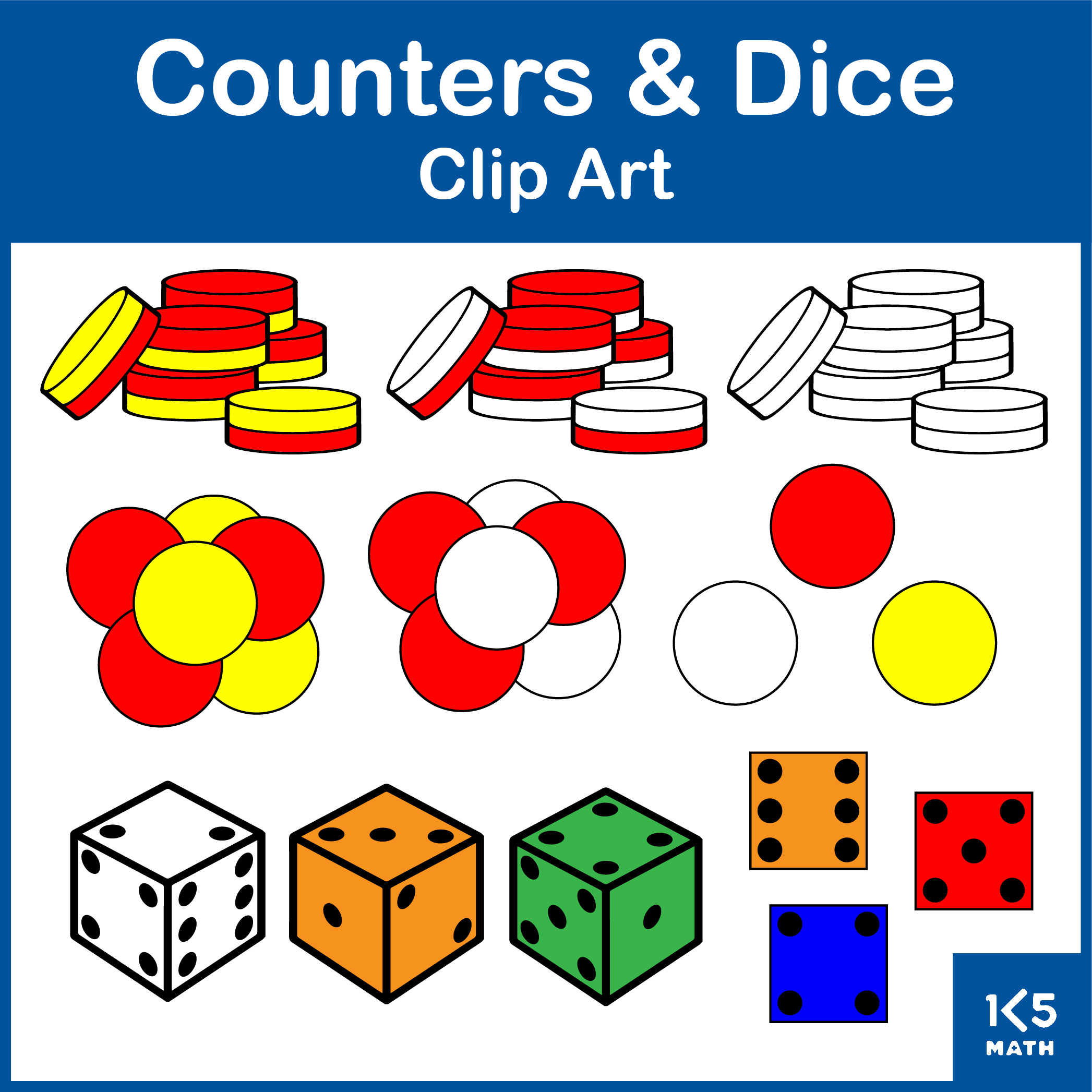 Counters and Dice Clip Art