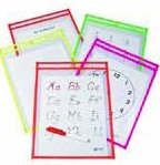 Math Center dry erase pockets