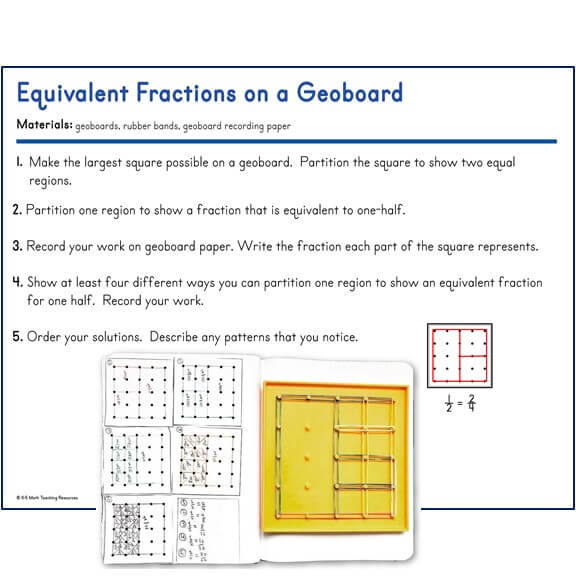 Equivalent Fractions on a Geoboard