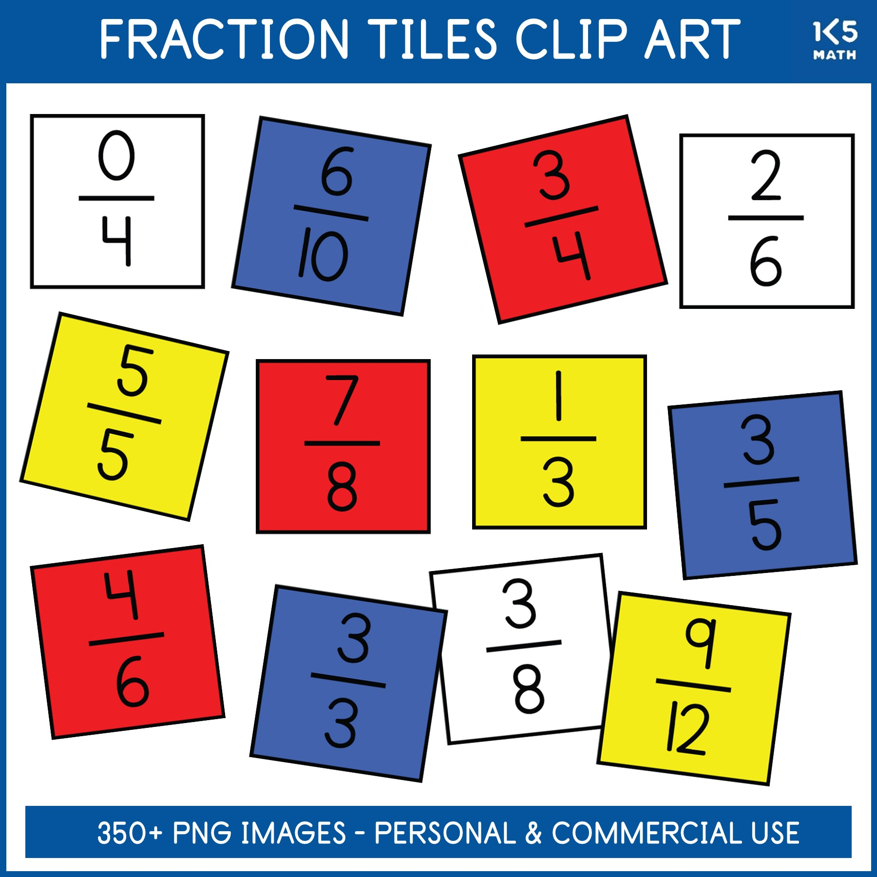 Fraction Tiles Clip Art