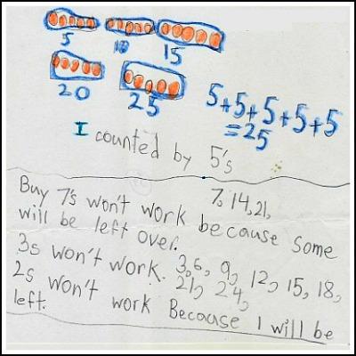 1st Grade Math Journal Task 39