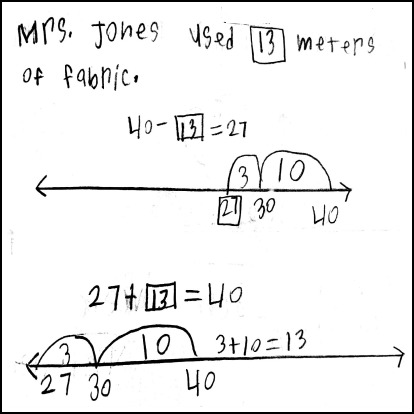 Student Work: Empty Number Line