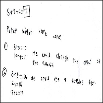 1st Grade Math Journal Task 15
