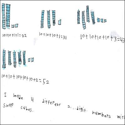 1st Grade Math Journal Task 43