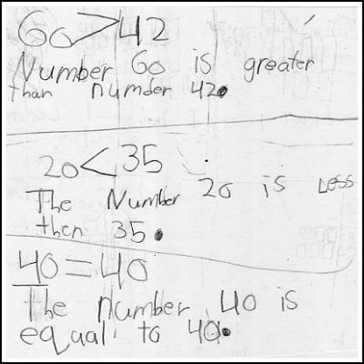 1st Grade Math Journal Task 46