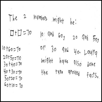 1st Grade Math Journal Task 50