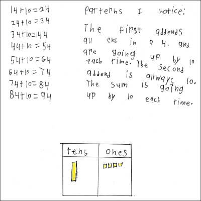 1st Grade Math Journal Task 55