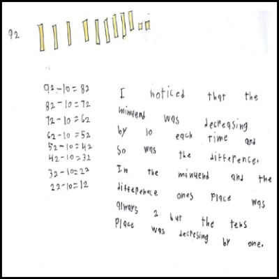 1st Grade Math Journal Task 56