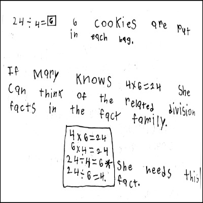 3rd Grade Math Journal Task 15