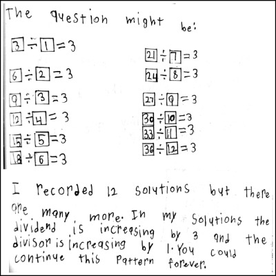 3rd Grade Math Journal Task