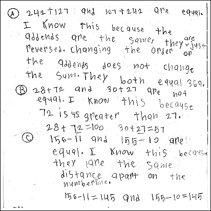 3rd Grade Math Journal Task 34