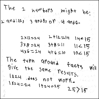 3rd Grade Math Journal Task 9