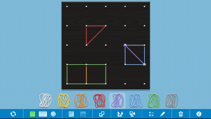 Geometry Interactive Whiteboard Resources: Geoboard