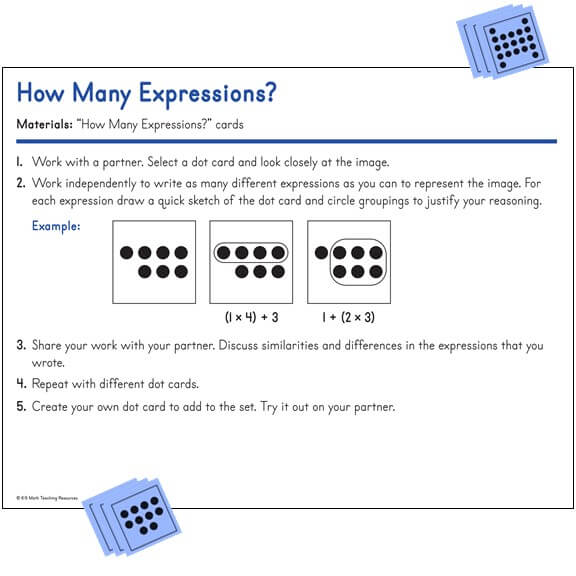 5.OA.A.1 How Many Expressions?