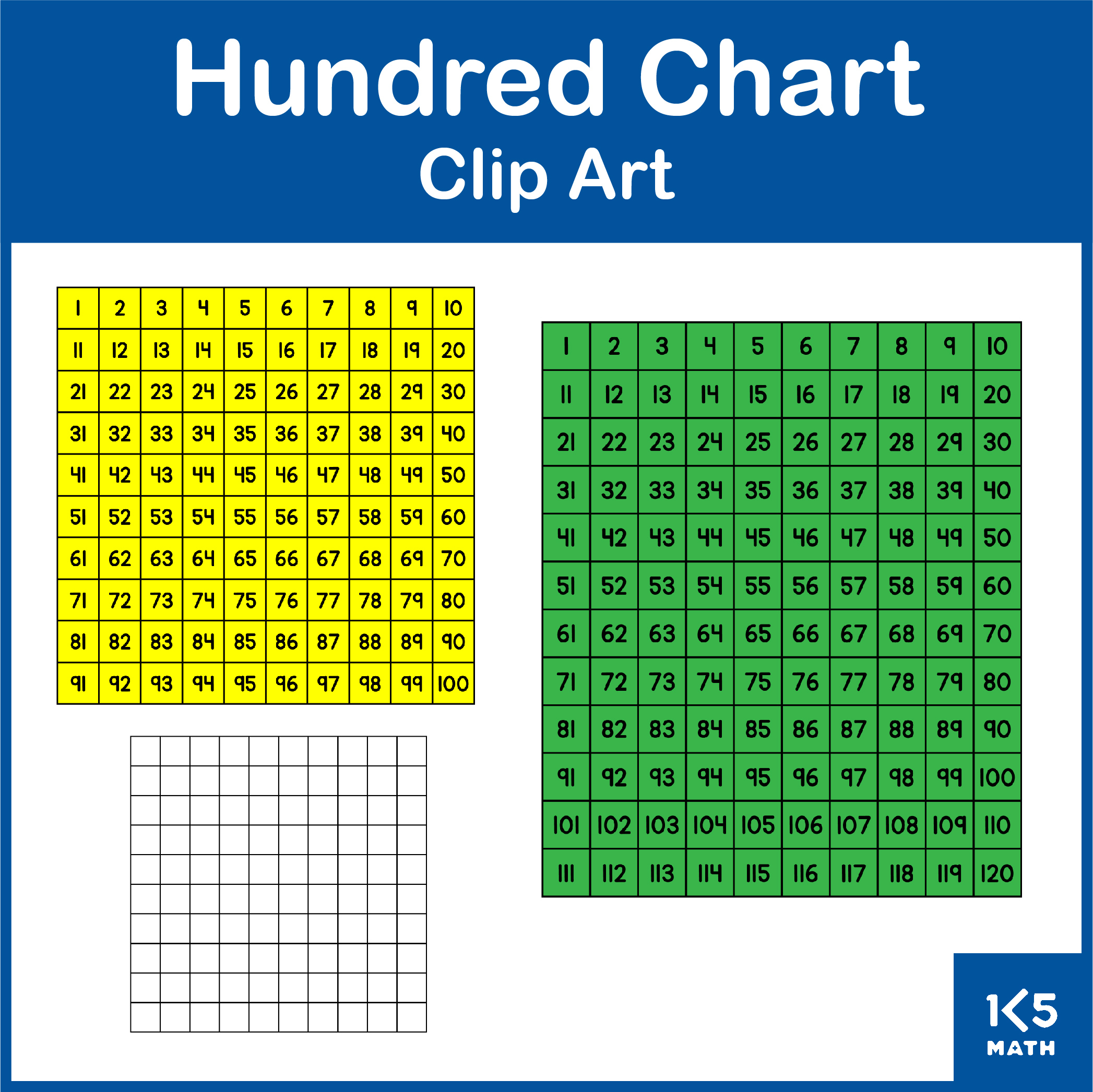 Hundred Chart Clip Art