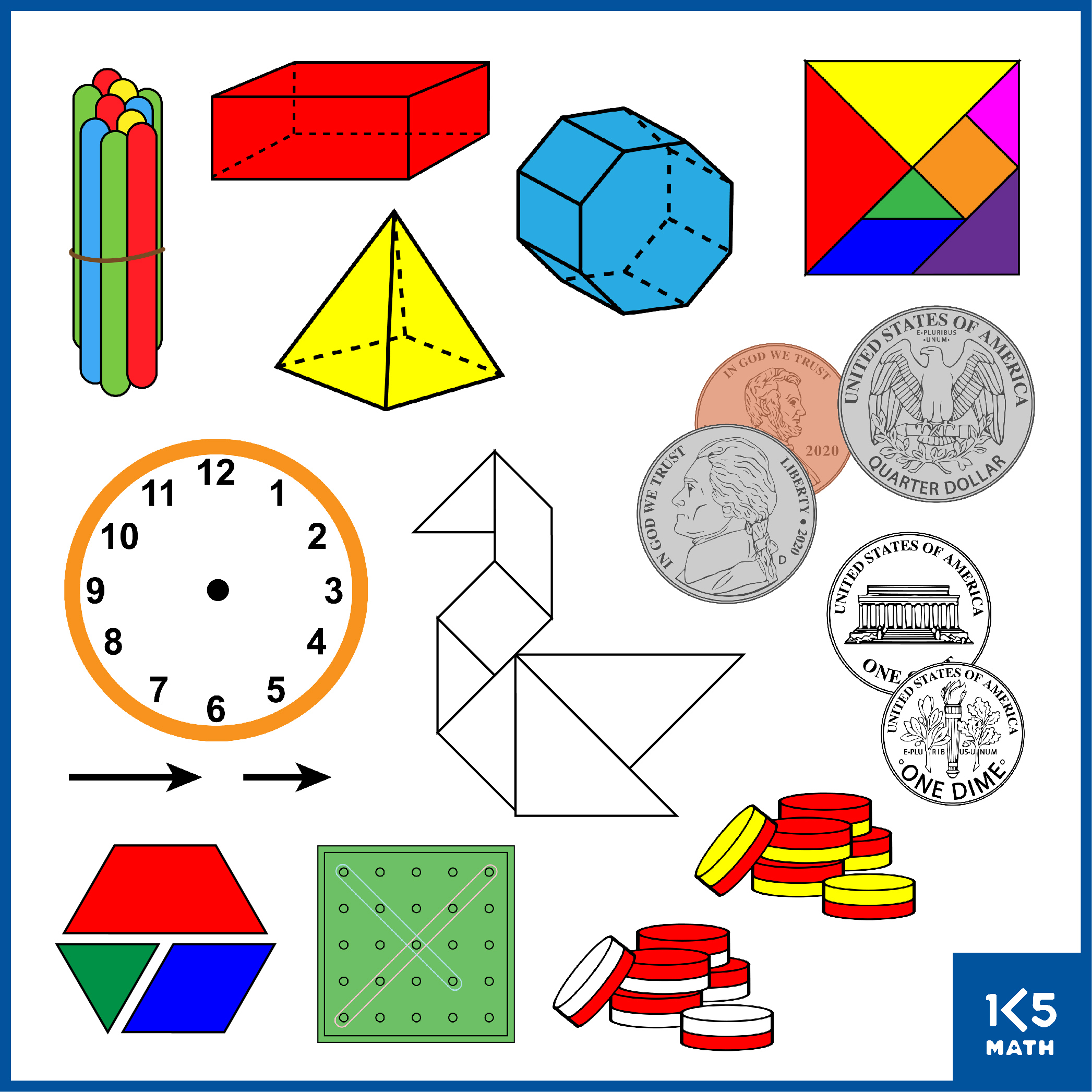 K-2 Math Clip Art contains over 1,500 images.