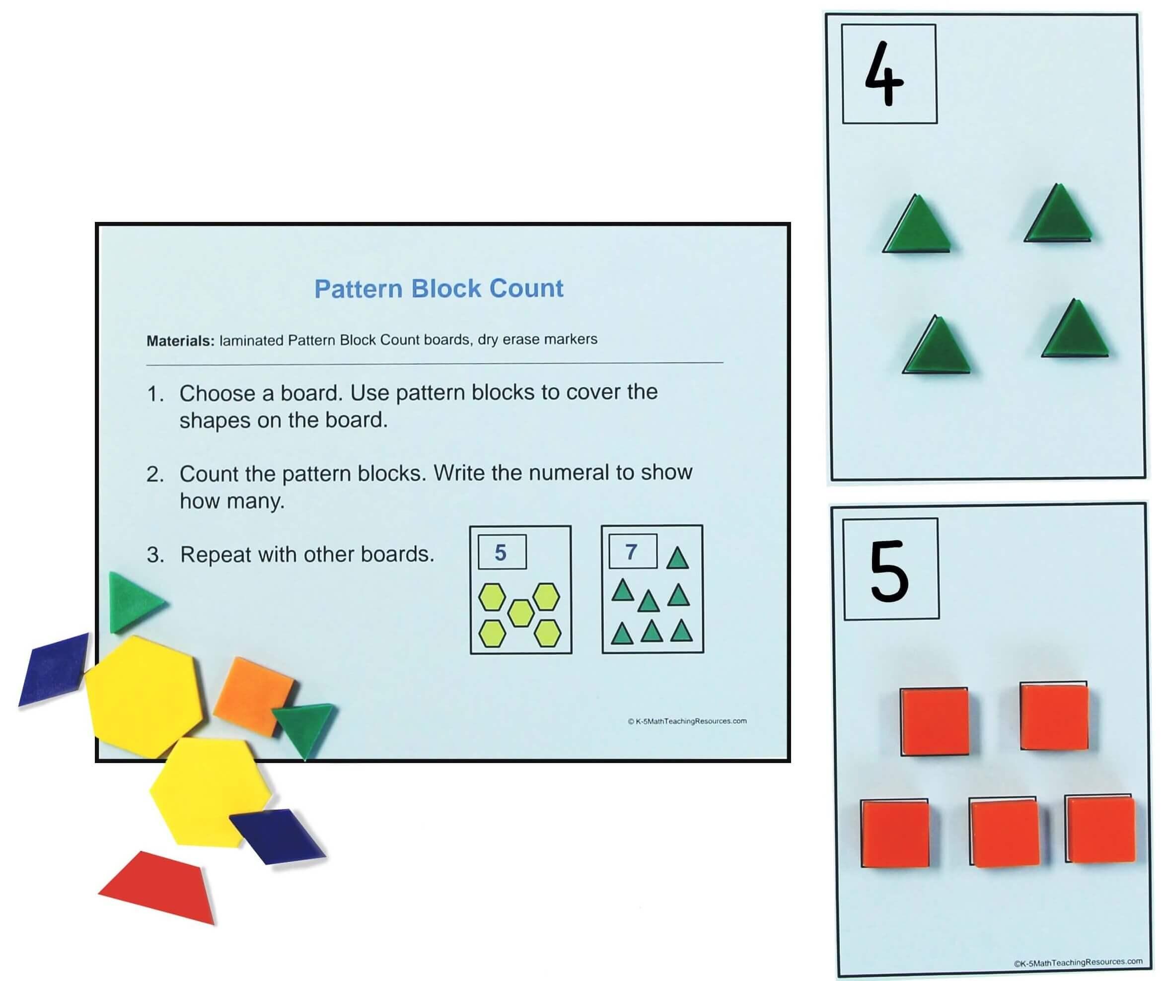 Kindergarten Counting Tasks