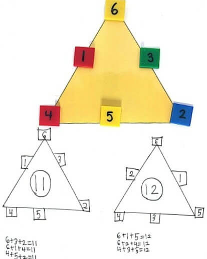 Magic Triangles are a fun way to practice addition skills
