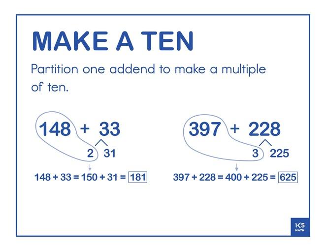 Make a Ten 3-Digit Addends