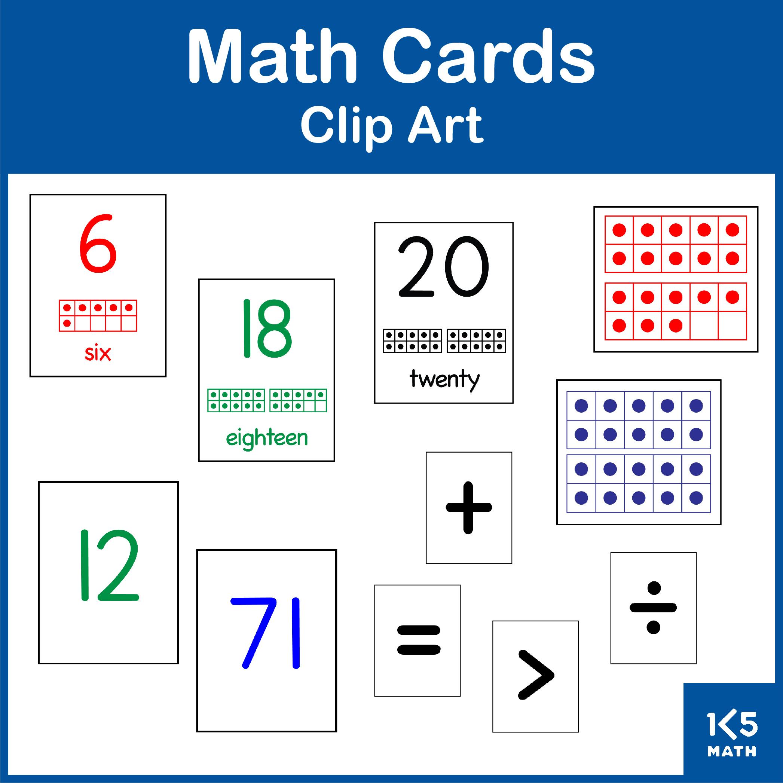 Math Cards Clip Art