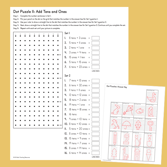 Dot Puzzles on the 100 and 200 dot grid