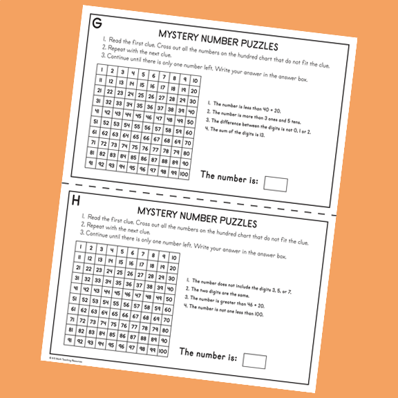 Mystery Number Puzzles