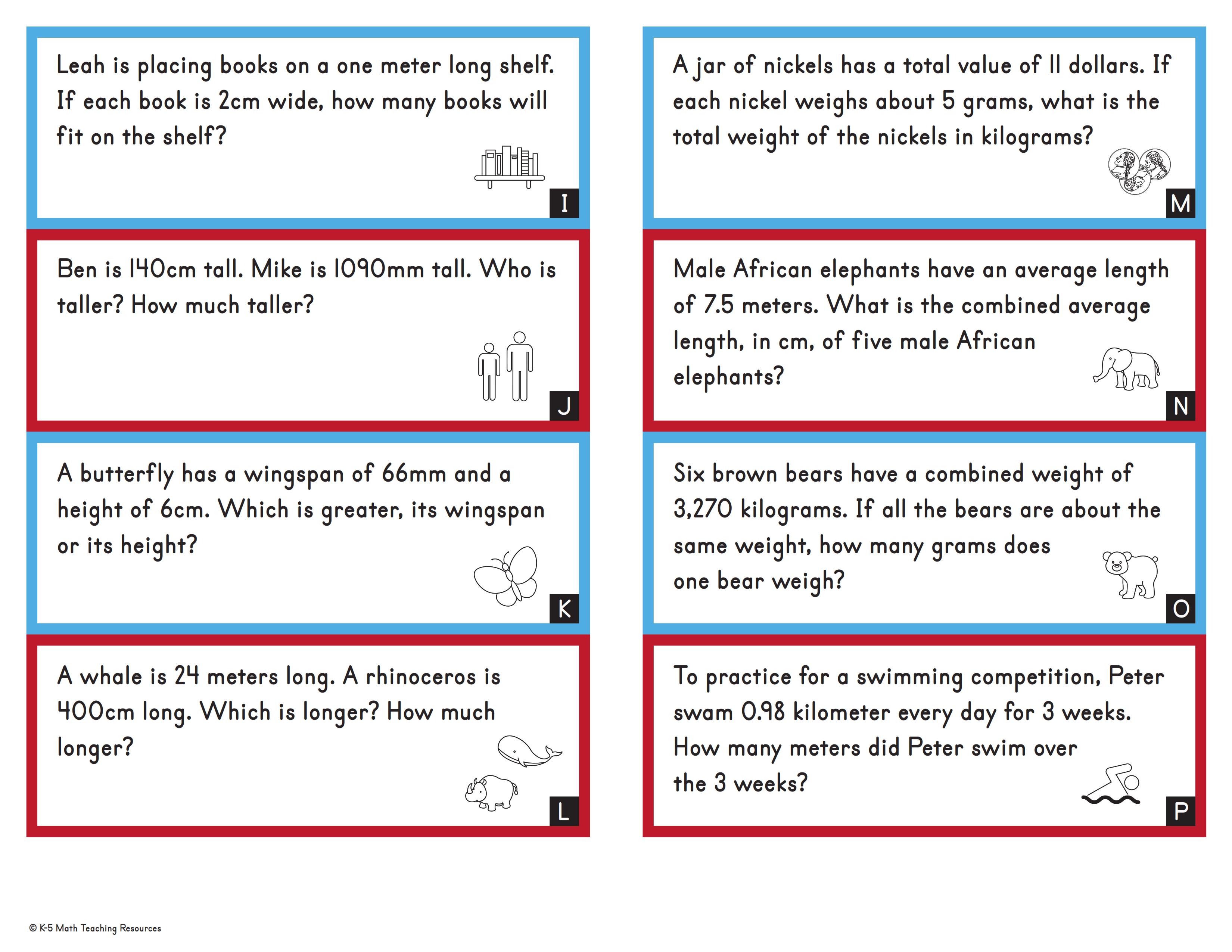 Word Problems: Metric Unit Conversions