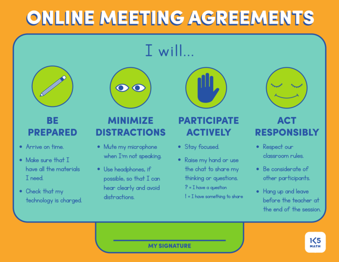 Online Meeting Agreements for Distance Learning