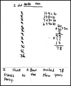 2nd Grade Math Journal student work