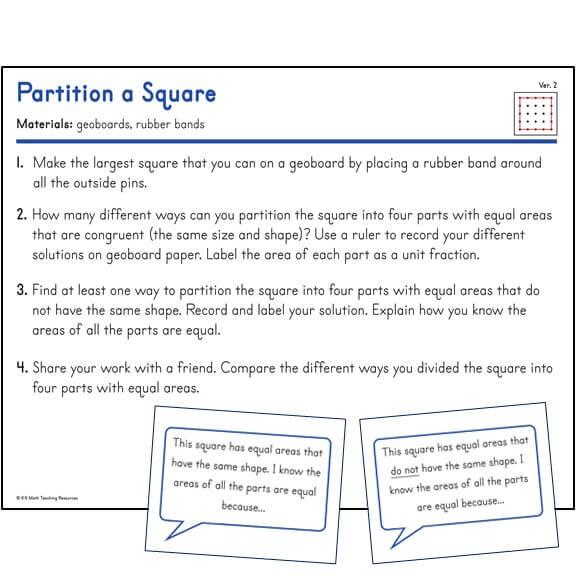 Partition a Square (Ver. 2)