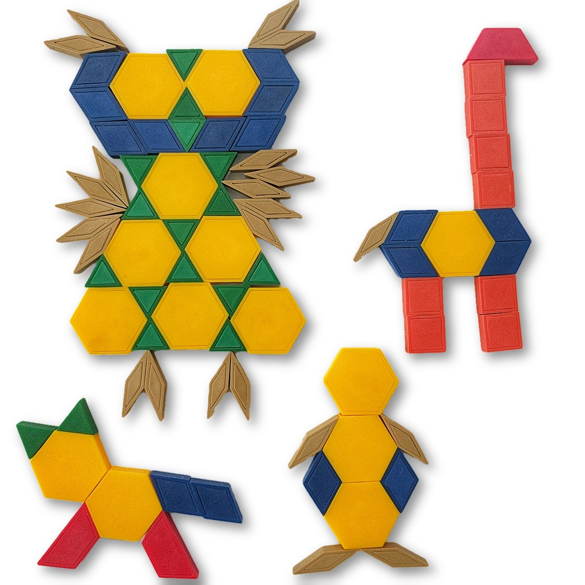 Kindergarten Geometry - Pattern Block Animals