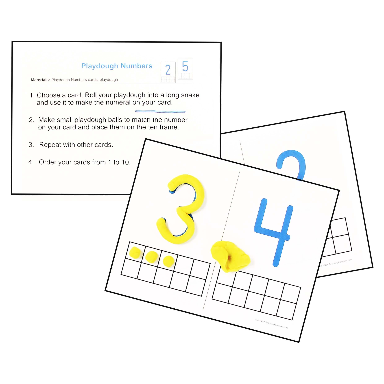 K.CC.B.4 Playdough Numbers