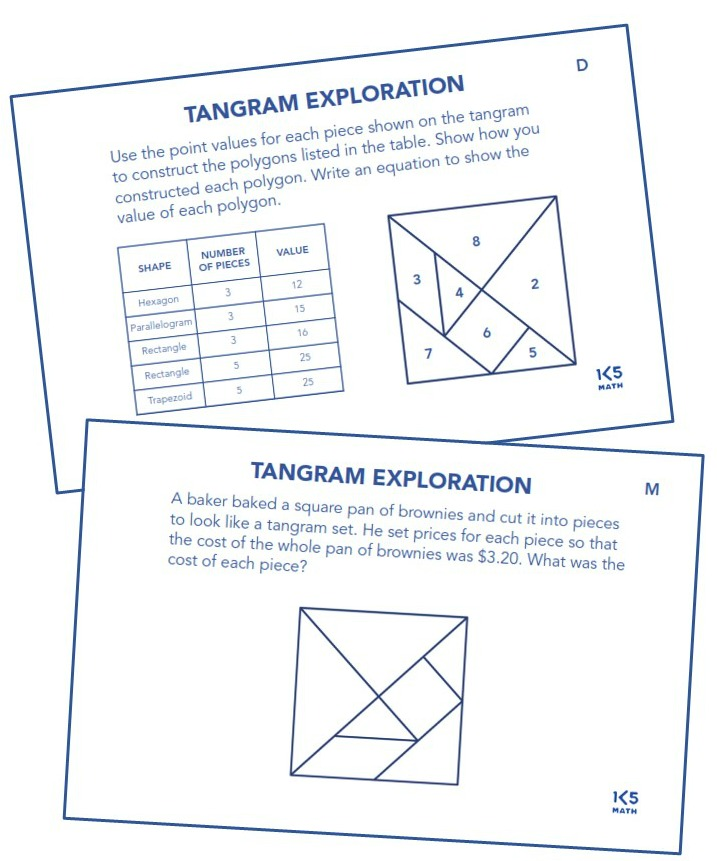 Tangram Explorations from Math Puzzles, Patterns & Explorations