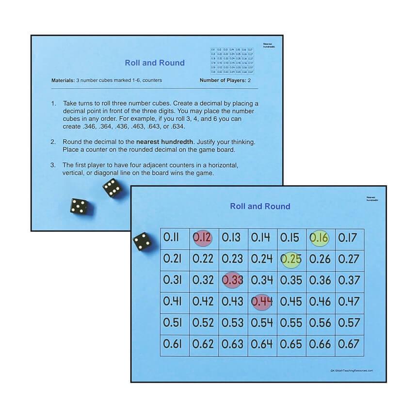 5.NBT.A.4 Roll and Round: Nearest Hundredth