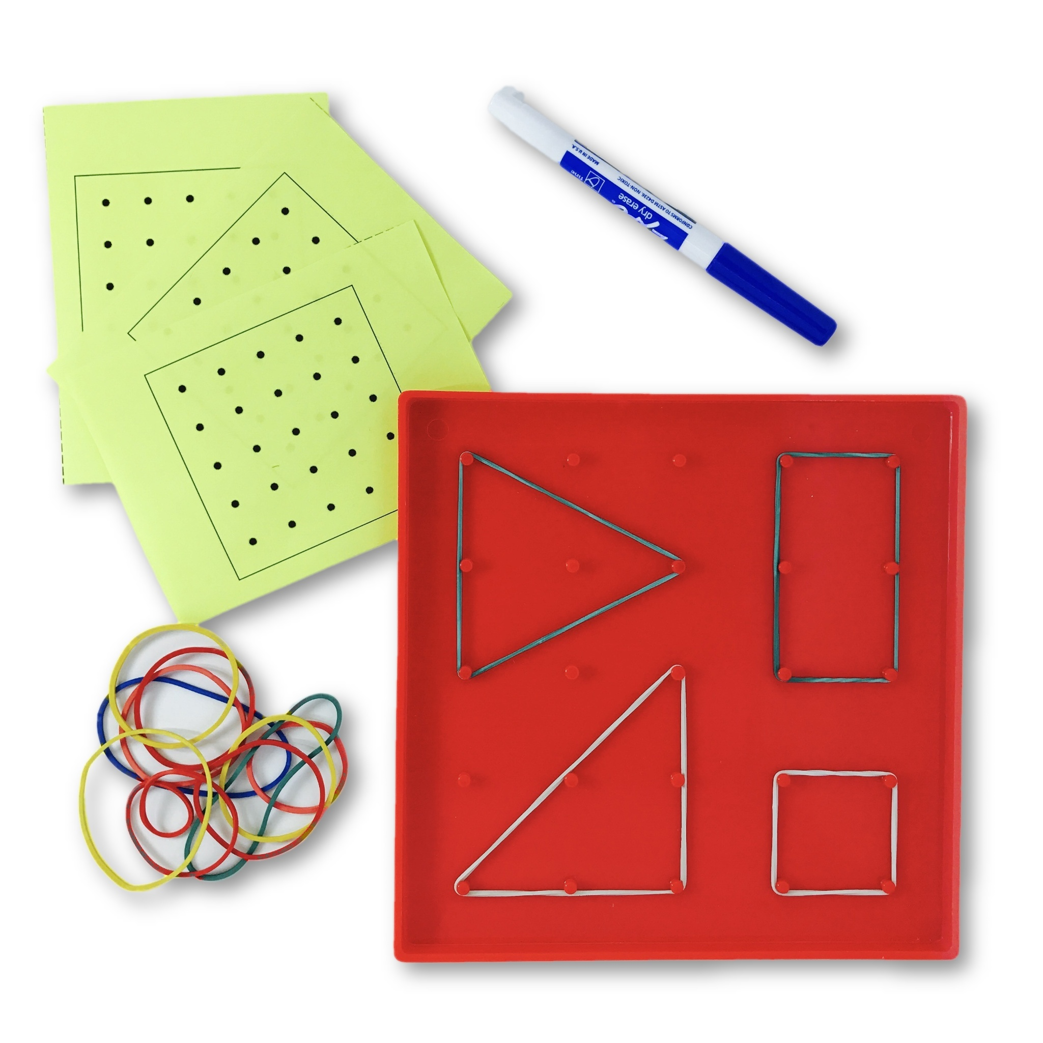 Kindergarten Geometry - Shapes on the Geoboard