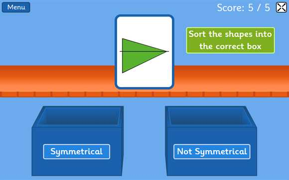 Geometry Interactive Whiteboard Resources: Symmetry Sorting