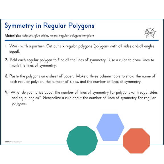 4.G.A.3 Symmetry in Regular Polygons