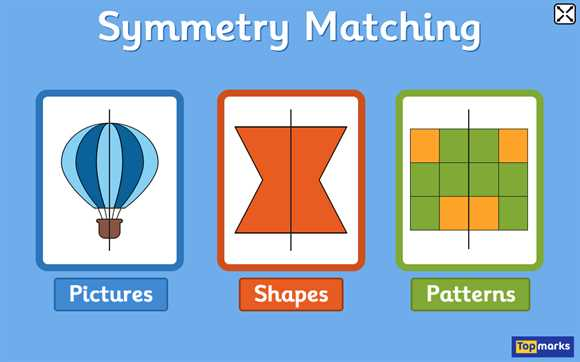 Geometry Interactive Whiteboard Resources: Symmetry Matching