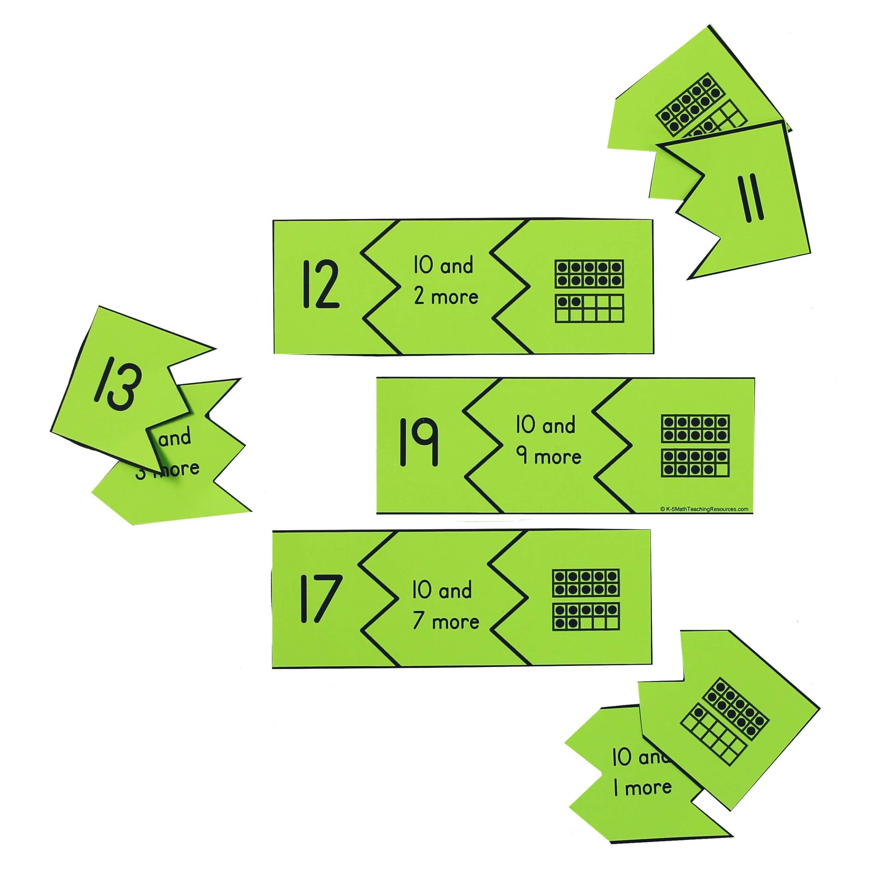 K.NBT.A.1 Teen Puzzles