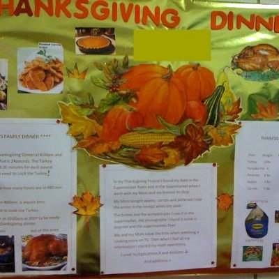 A Thanksgiving Dinner Math Project