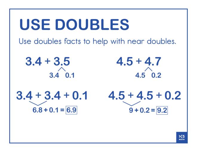 Use Doubles Decimals