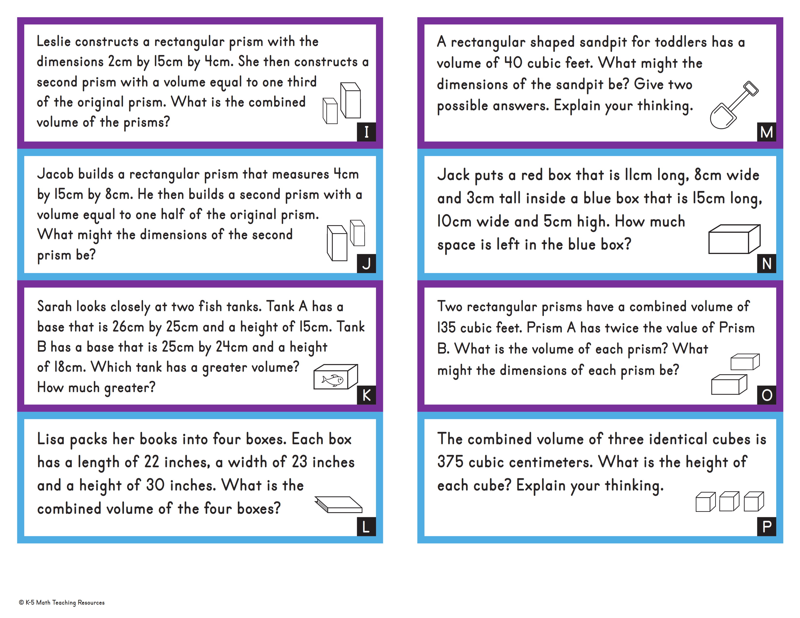 Word Problems: Volume