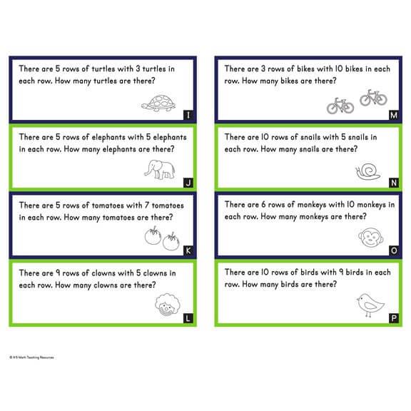 Word Problems: Arrays (Set 1)