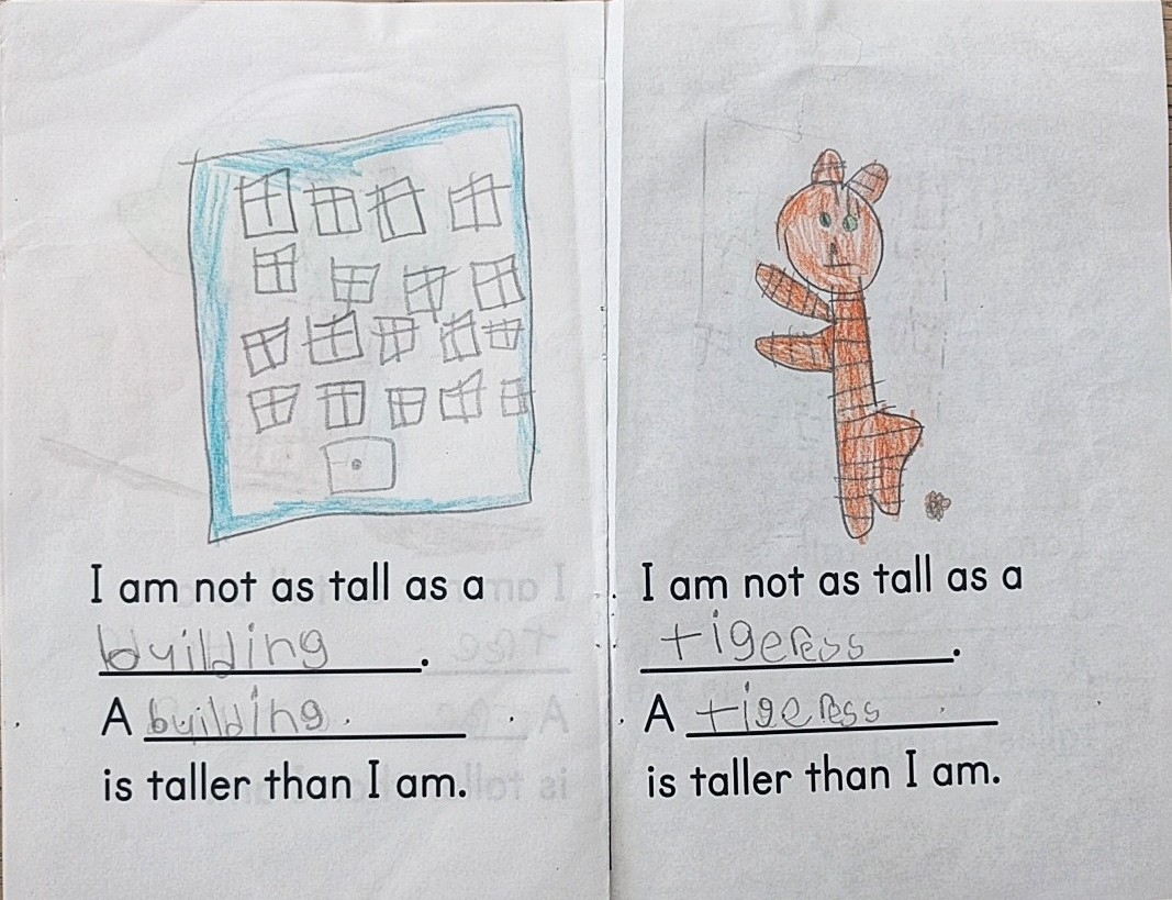 Kindergarten Math Concept Book: What is Tall?