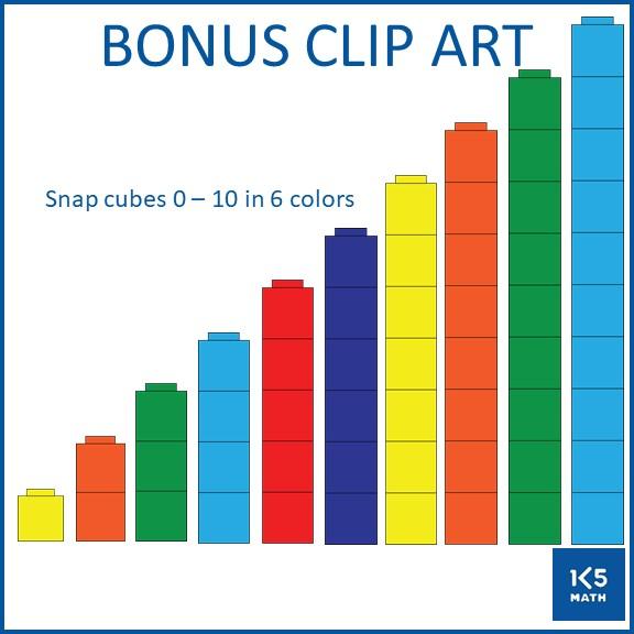 Bonus Snap Cubes Clip Art