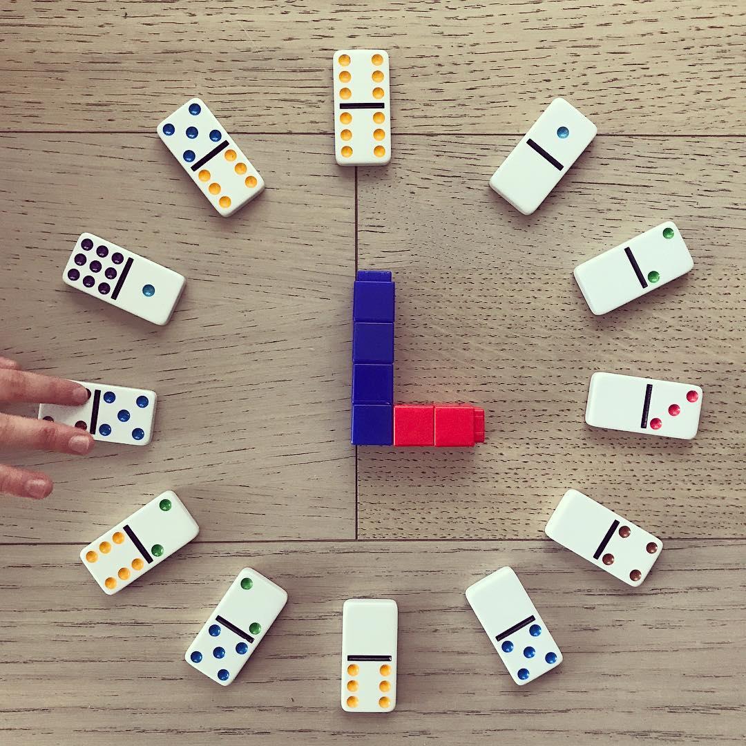 1st Grade Measurement: Domino Clock