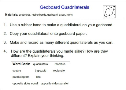 Geoboard Quadrilaterals