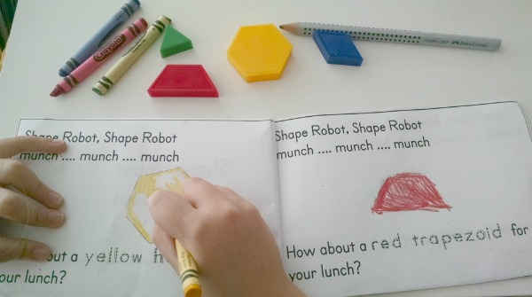 Shape Robot, Shape Robot Book Template