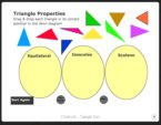 Geometry Interactive Whiteboard Resources: Triangle Sort