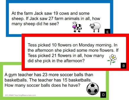 2.OA.A.1 2nd Grade Word Problems